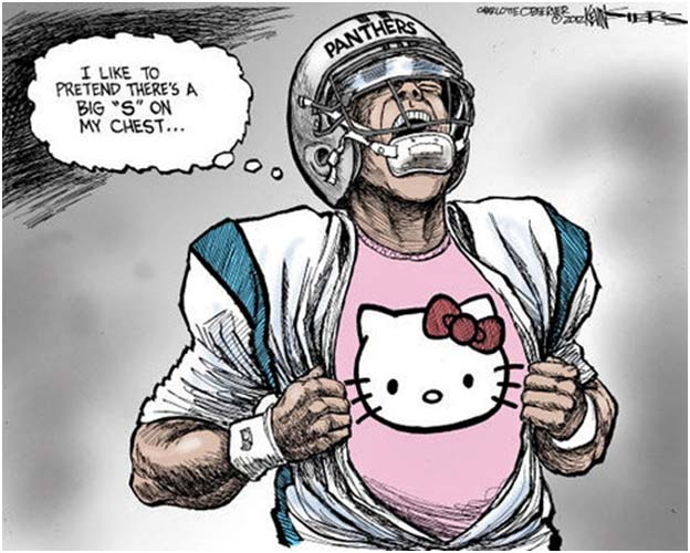 Cam Newton's Celebration Cartoon