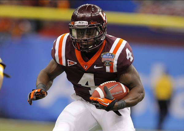 Virginia Tech Hokies running back David Wilson