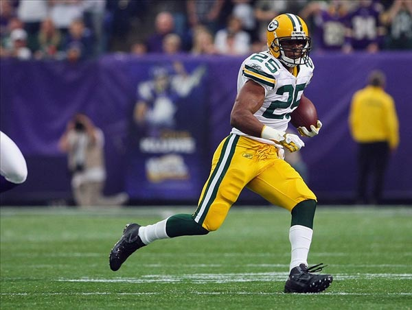 Green Bay Packers running back Ryan Grant
