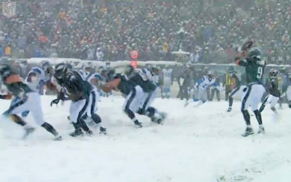 American Football - Heavy Winter Snow Hits East Coast Games
